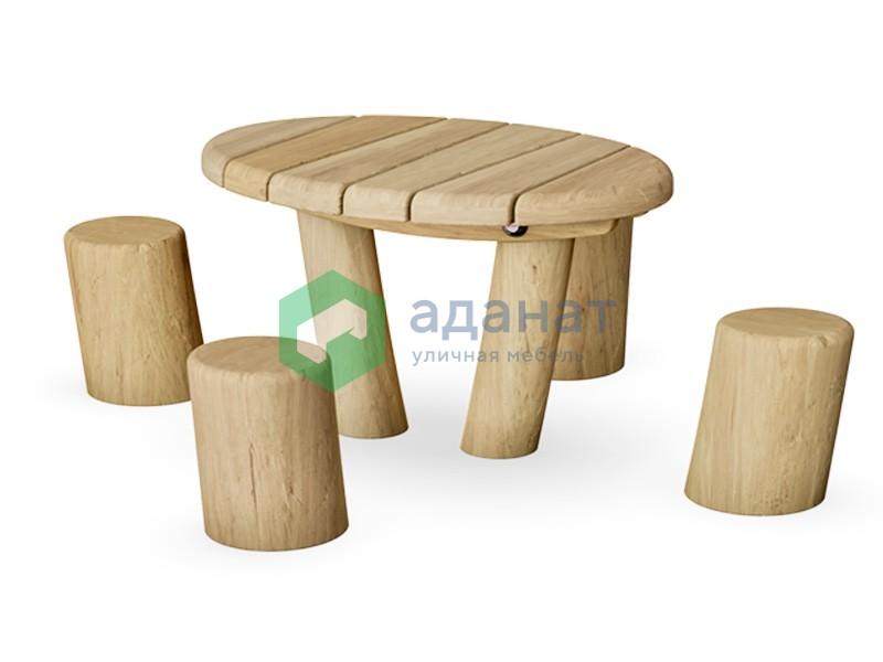 Детский стол с 4 сиденьями