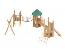Детский городок с башней и качелями