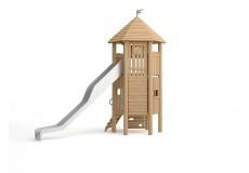 Высокий дом-башня с горкой