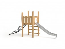 Игровая платформа с горкой и сеткой