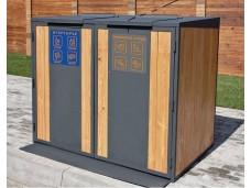 Контейнерный шкаф «Блок композит» для раздельного сбора мусора