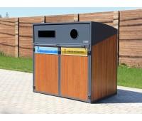 Контейнерный шкаф «Модуль» для раздельного сбора