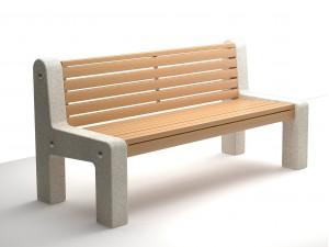 Серия «Скамейки из бетона и дерева»
